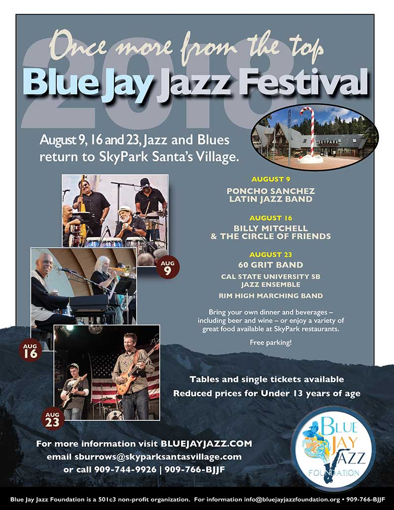 Blue Jay Jazz Festival 2018 - Lake Arrowhead Live Music - SkyPark at Santa's Village