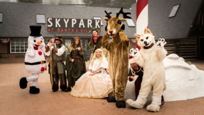 Northwoods Characters - Lake Arrowhead Activtivies for kids - SkyPark at Santa's Village