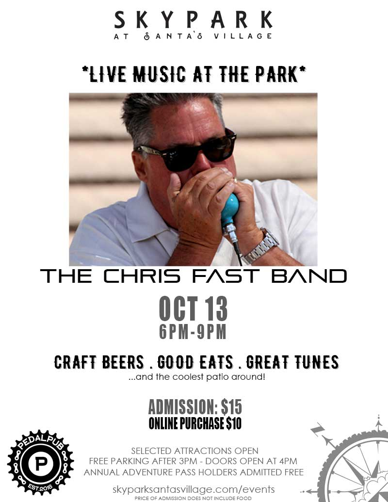Lake Arrowhead Events - Live Music - Chris Fast Band - The Pedal Pub - SkyPark at Santa's Village
