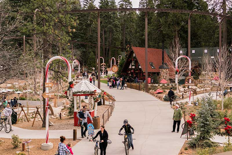 SkyPark at Santa's Village at Christmastime - Lake Arrowhead, CA