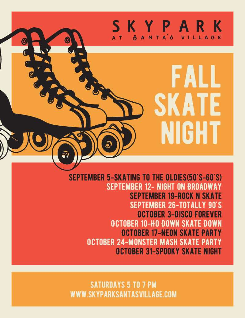 Skate Nights - Fall 2020 - SkyPark at Santa's Village