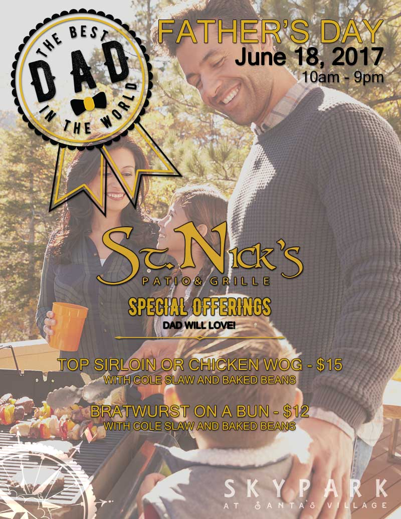 Father's Day Menu - Special Offerings for Dad from St. Nicks