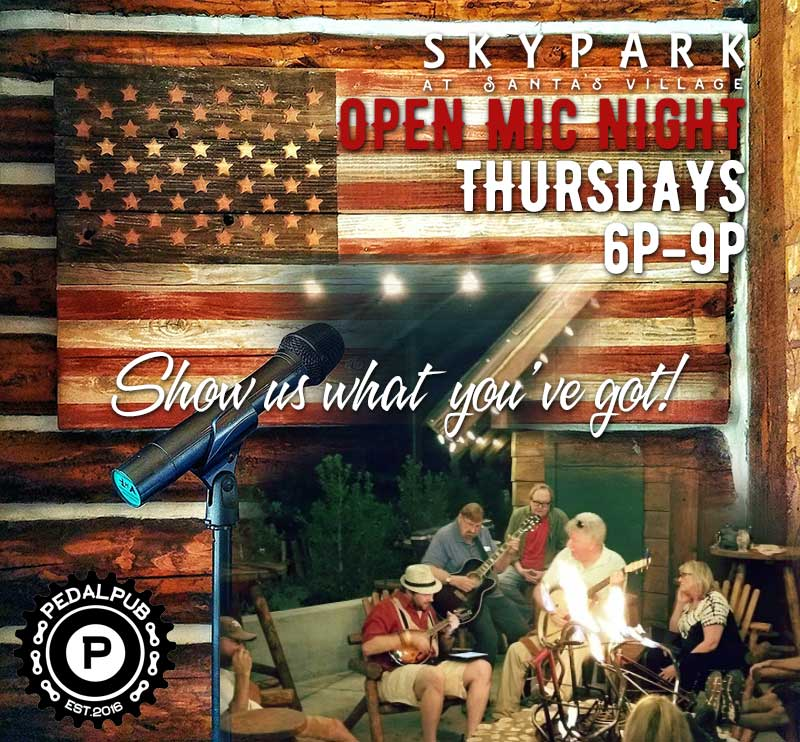 Live Music - Open Mic Night - Things to do in Lake Arrowhead - SkyPark at Santa's Village