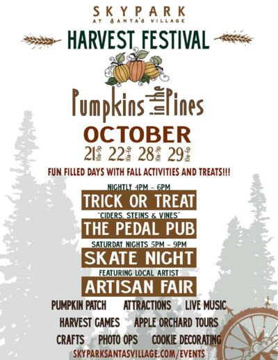 Pumpkins in the Pines Harvest Festival - Things to do in Lake Arrowhead - SkyPark at Santa's Village