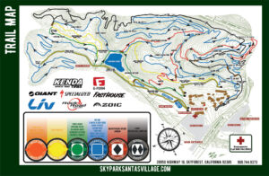 Bike Park Trail Map 2019 - SkyPark at Santa