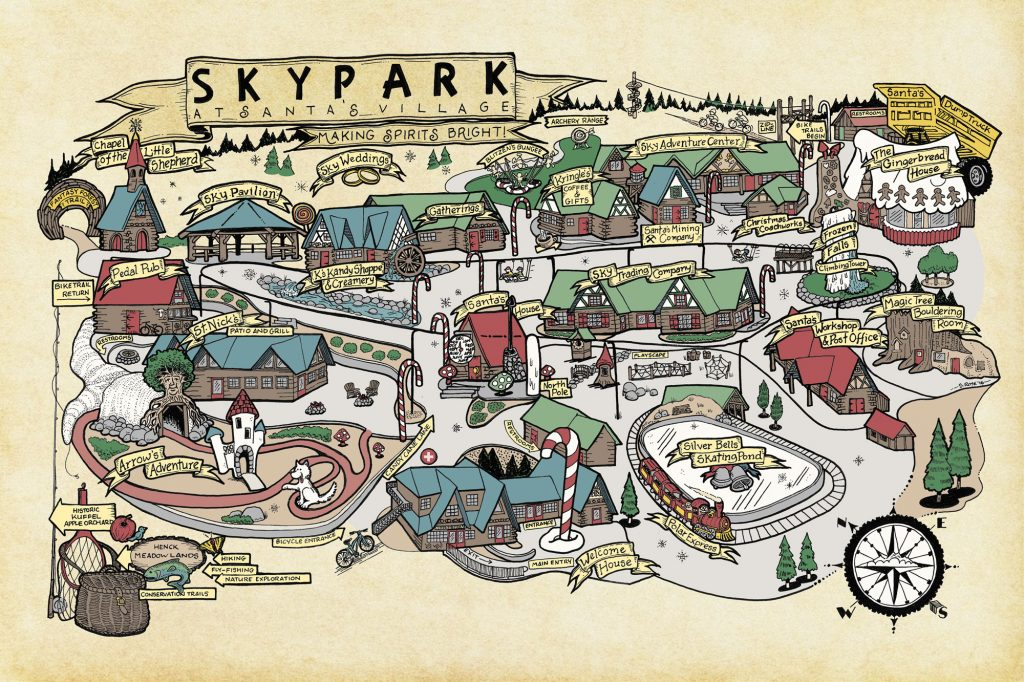 SkyPark at Santa's Village - Village Map
