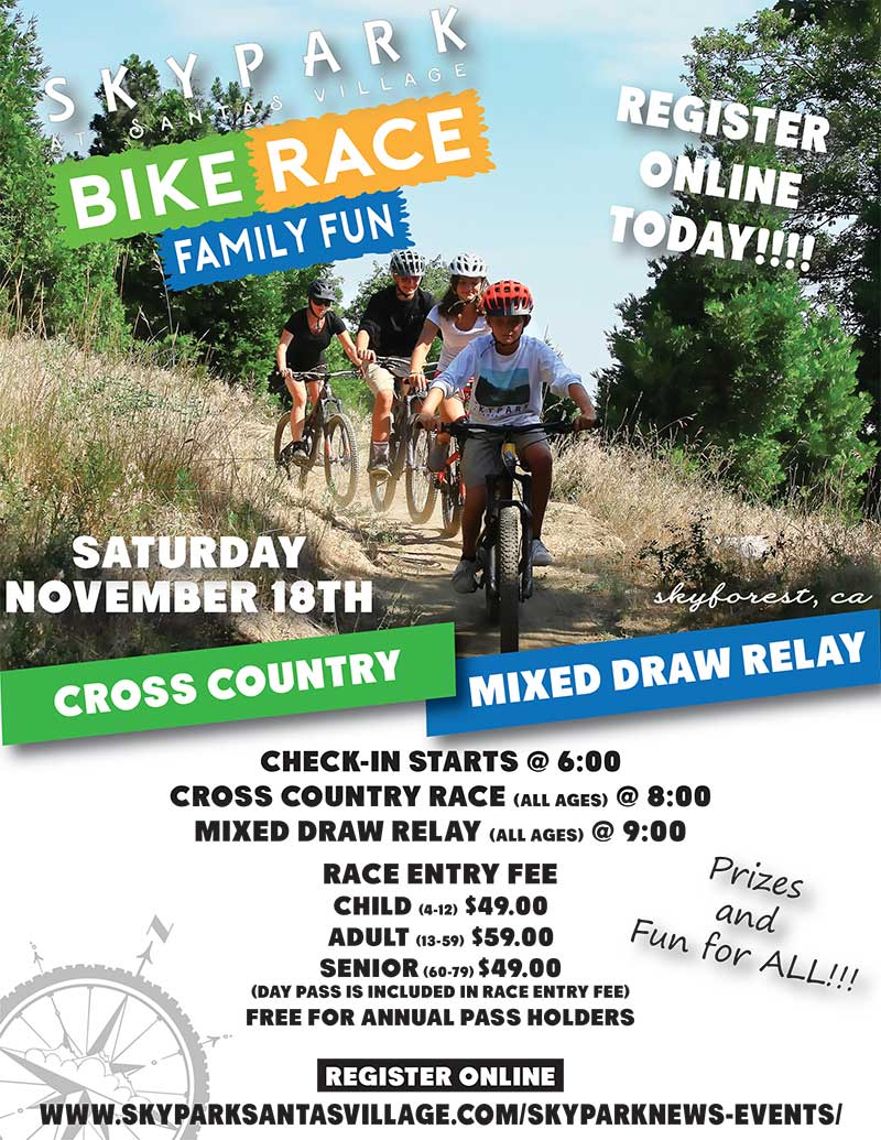 Family Fun Bike Races - Lake Arrowhead Activities - SkyPark at Santa's Village