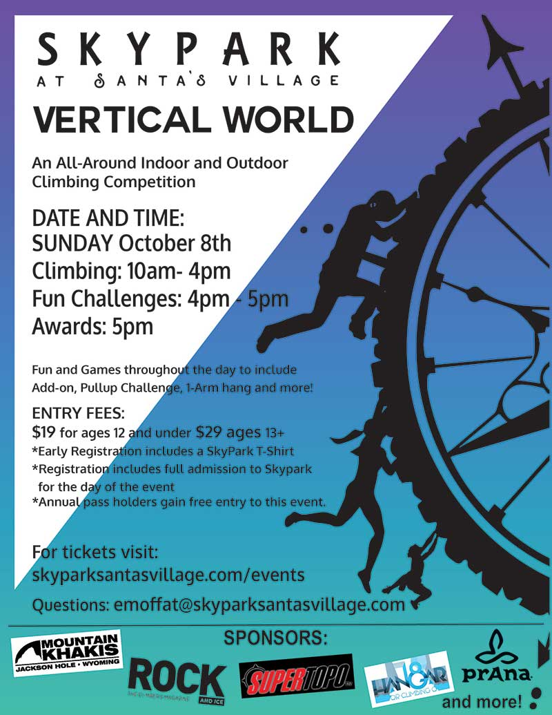 Vertical World Climbing Competition at SkyPark at Santa's Village