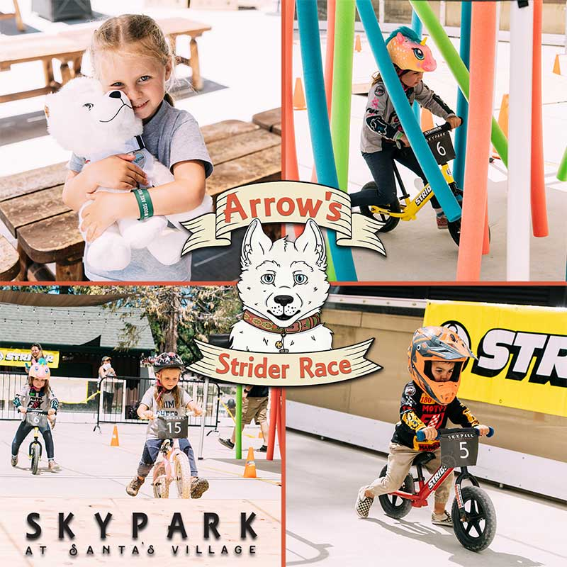Arrow's Strider Bike Race Series – October 20 & 27, 2019 – SkyPark at Santa's Village