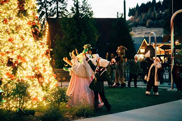 The Candy Cane Lane Parade and Tree Lighting Party - Entertainment - SkyPark at Santa's Village