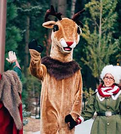 Comet the Reindeer - Northwoods Characters - SkyPark at Santa's Village