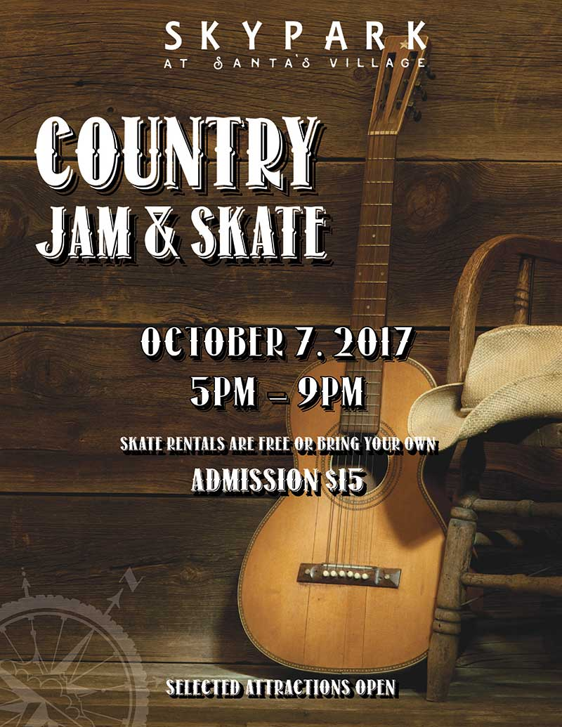 Lake Arrowhead Events - Skate Night - Country Jam - SkyPark at Santa's Village