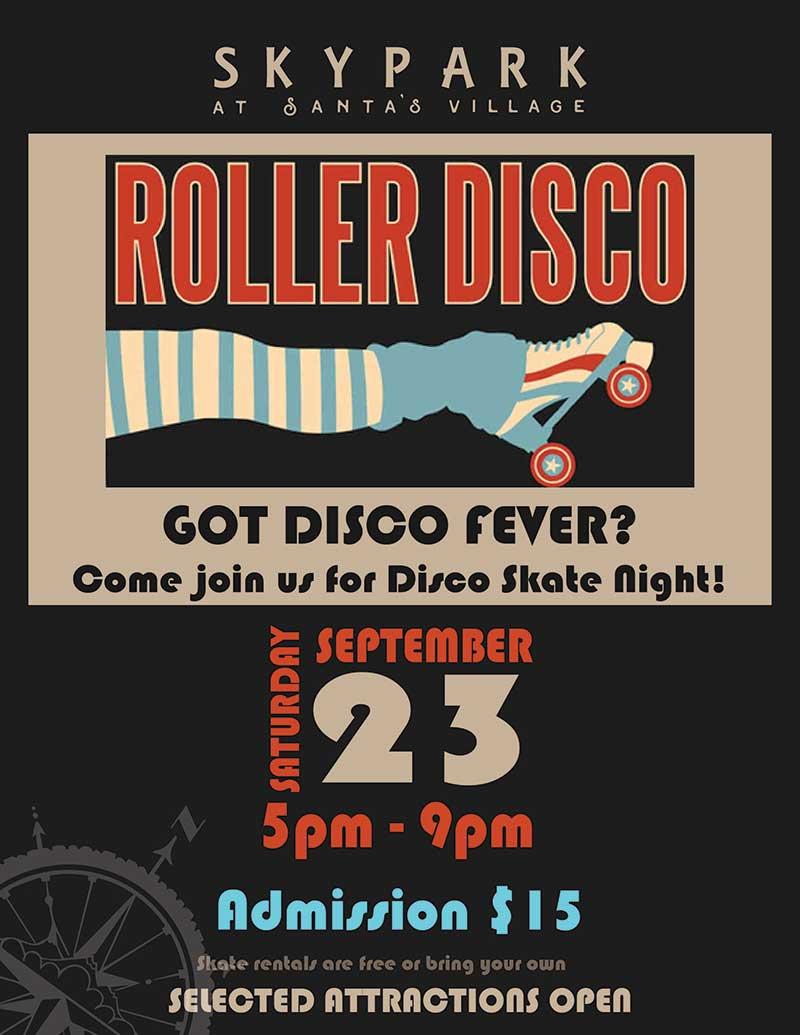 Lake Arrowhead Events - Skate Night - Roller Disco - SkyPark at Santa's Village