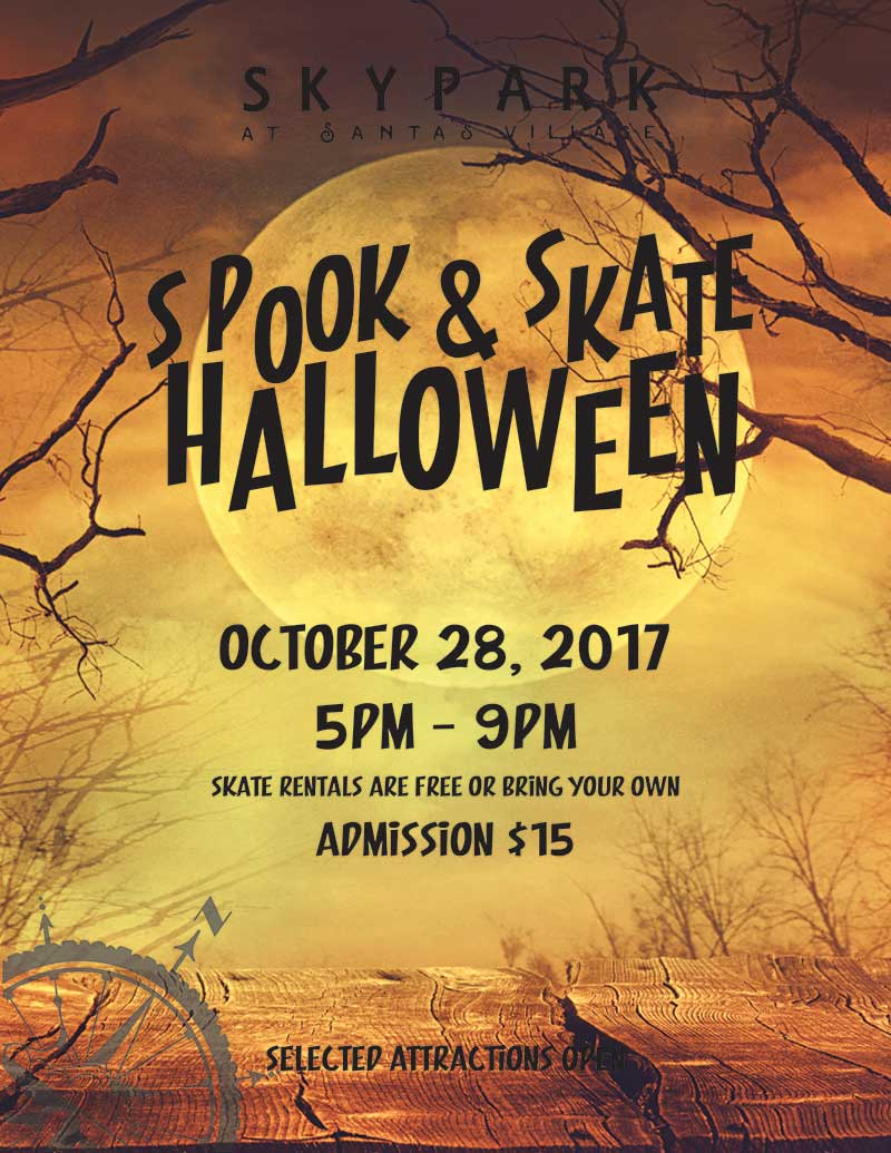 Lake Arrowhead Events - Skate Night - Spook & Skate - SkyPark at Santa's Village