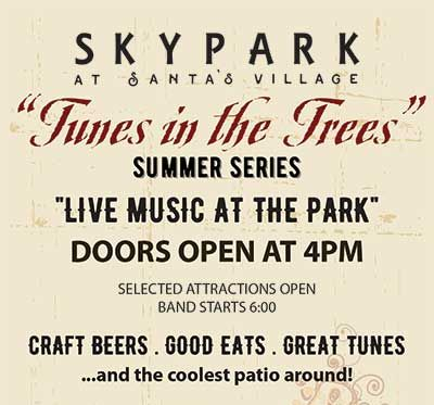 Tunes in the Trees 2019 - Band Schedule - Live Music in Lake