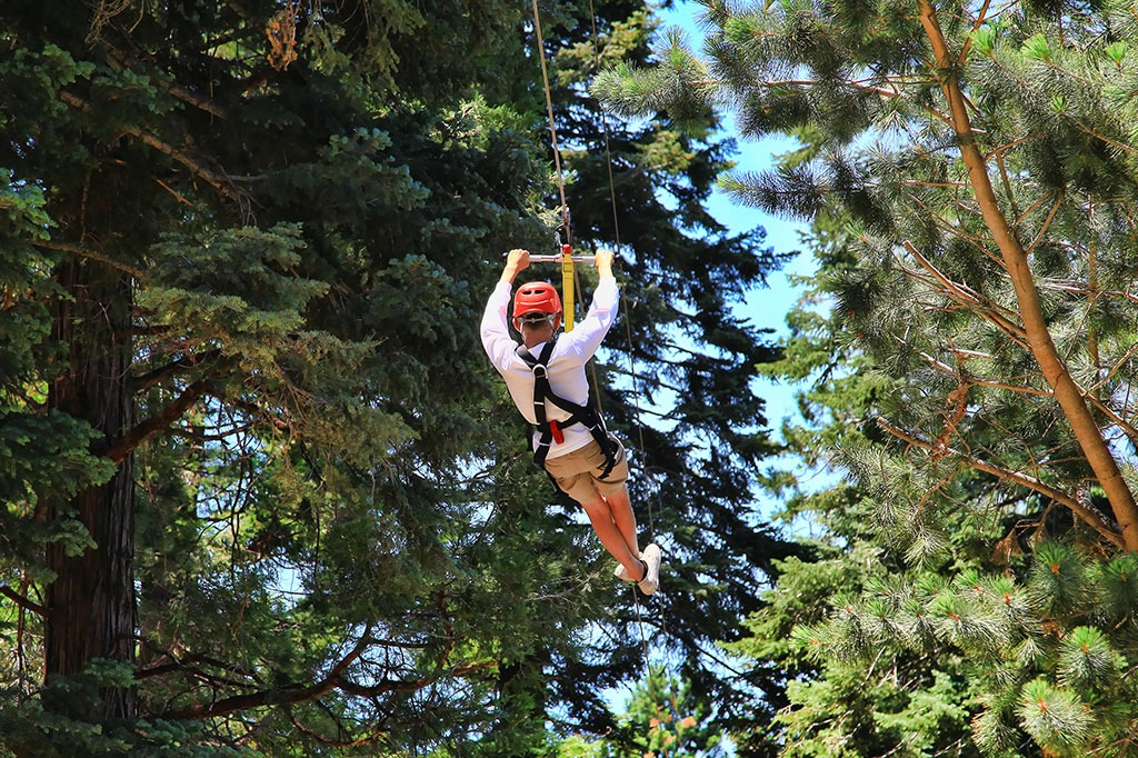 SkyPark Adventure Zipline - SkyPark at Santa's Village
